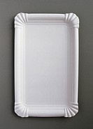 white paper plate looking like a picture frame