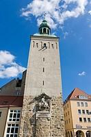 Lauenturm, Lawska weza, Bautzen, Budysin, Budysyn, Budziszyn, Dresden region, Eastern Saxony, Upper Lusatia, Germany.