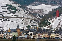 Zell, Mosel, Moselle, Valley, Rhineland-Palatinate, Germany, Winter.