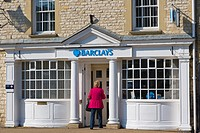 Barclays Bank Building, Market Square, Lechlade on Thames, the Cotswolds, Gloucestershire, England, UK
