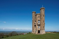 England, Worcestershire, Broadway Tower on hill