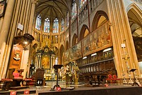 St Salvator's Cathedral, Saint-Salvator Cathedral, interior, Bruges, Brugge, West Flanders, Flemish Region, Belgium