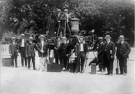 News photographers posing with cameras, circa 1909_1932