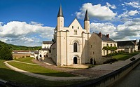 France, Anjou, Maine et Loire, Fontevraud l'Abbaye, Loire Valley on World Heritage list of UNESCO, Abbey of Fontevraud, XII-XVII century, main church