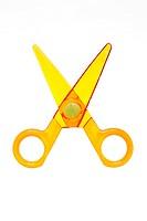 Yellow toy scissors
