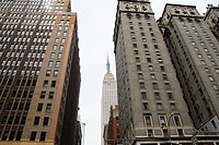 The Empire State building from Park Avenue at 33rd Street. Midtown East Manhattan. New York, New York. USA.