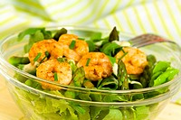 Feldsalat mit Oliven,Soße