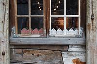 window in Bryggen in Bergen