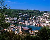 View of East Looe across the harbour from West Looe