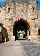The entrance gate to Lincoln Castle