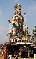 A STATUE OF HANUMAN ON RAJAMUNDRY HIGHWAY, ANDHRA PRADESH,INDIA