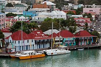Seaport of the island of Antigua in the Caribbean Sea