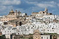 Ostuni  Puglia  Italy  View of the old town of Ostuni