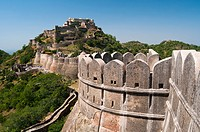 Kumbhalgarh Fort, Rajasthan state, India, Asia, Built during the course of the 15th century by Rana Kumbha, and enlarged through the 19th century, Kum...
