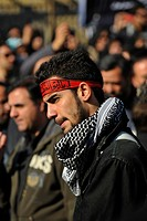 Iran, Teheran, Celebration of Ashura which Commemorates the Death of the Prophet Hosein
