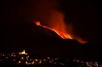 Italy, Sicily: Etna volcano eruption
