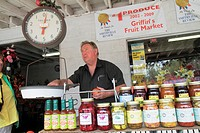Tennessee, Smithville, Griffin´s Fruit Market, farm stand, business, agriculture, produce, local products, pickles, relishes, preserves, jars, Toledo ...