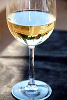 Crystal cup of White wine
