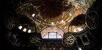 Inside the Hagia Sophia in Istanbul, Turkey