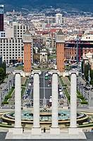 Mont Juic park  Barcelona  Catalonia  Spain