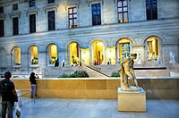 Paris, France - Inside Atrium, The Louvre Museum, Sculpture COurt, Richelieu WIng