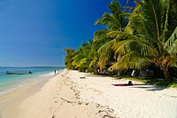 White sand beach at the Ile aux Nates Nosy Nata, near Ile Sainte Marie, Madagascar, Indian Ocean, Africa