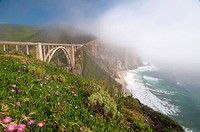 Bixby Bridge, Highway 1, California, United States of America, North America