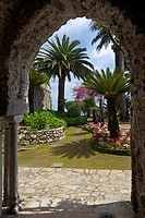 Villa Rufolo gardens in Ravello, Amalfi Coast, UNESCO World Heritage Site, Campania, Italy, Europe