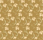 seamless leaves and flower pattern