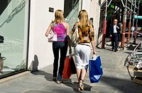 Paris, France, Women Luxury Clothes Shopping, Street Scene, Outside Prada Store, Rue Faubourg Saint Honore