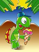 Turtle Holding Ice_cream