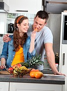couple cooking together