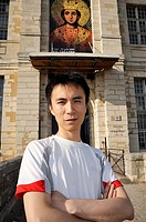 Paris, France, Portrait Young Chinese Man in Profile, Visiting Chateau de Vincennes