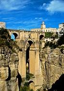 Roman Bridge or Puente de San Miguel  Ronda  Three bridges, Puente Romano ´Roman Bridge´, also known as the Puente San Miguel, Puente Viejo ´Old Bridg...