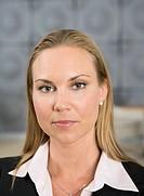 Portrait of a woman in an office, Sweden.