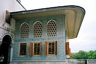 The Twin Kiosk of the Harem in the Topkapi Palace in Istanbul, Turkey The Twin kiosk was used as an apartment and privy chamber for the Crown Princes ...