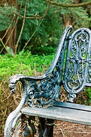 Cast iron neo-Gothic styled park bench