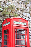 British phone booth, Gibraltar, UK