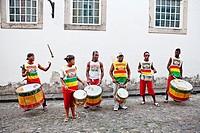 Swing Dopelo band, Pelourinho, Salvador, Bahia, Brazil