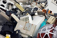 Discarded electrical items. Waste electrical and electronic equipment WEEE contains toxic metals such as lead, cadmium and mercury, that must be dispo...