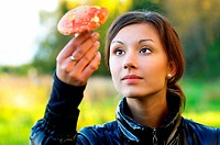 Girl with fly agaric