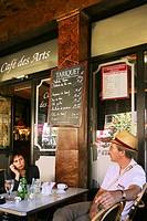 At the ´Café des Arts´ at Bordeaux, Gironde, Aquitaine, France