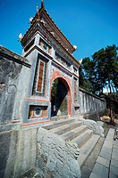 The complex of buildings of the kings of Nguyen dynasty tombs. Hue Sity, Vietnam