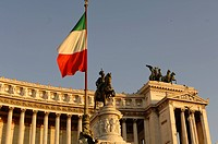 A view of the Italian flag.