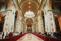 St, Peter´s, cathedral, Vaticane, Rome, Lazio, Italy, Stato, della, Citta, del, Vaticano,
