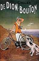BICYCLE AD, 1925.French lithograph advertising poster for De Dion-Bouton bicycles.
