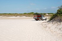 Dunes, truck, Lençóis Maranhense, Lacs Maranhão, Lençois, Barreirinhas, Maranhão, Brazil
