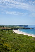 Coastal Landscape Of White Park Bay, Portbraddon, County Antrim, Northern Ireland