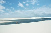 People, Oasis, dunes, Lençois Maranhense, Lacs Maranhão, City, Santo Amaro, São Luis, Maranhão, Brazil