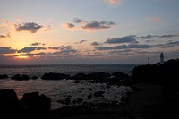 Sunrise Over Shiono_misaki Lighthouse